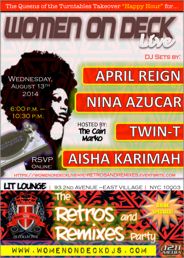 WomenOnDeckLive-NYC-RetrosandRemixes-EventFlyer