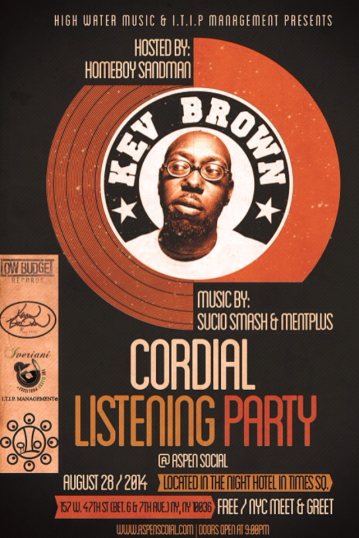 Kev Brown Listening Party